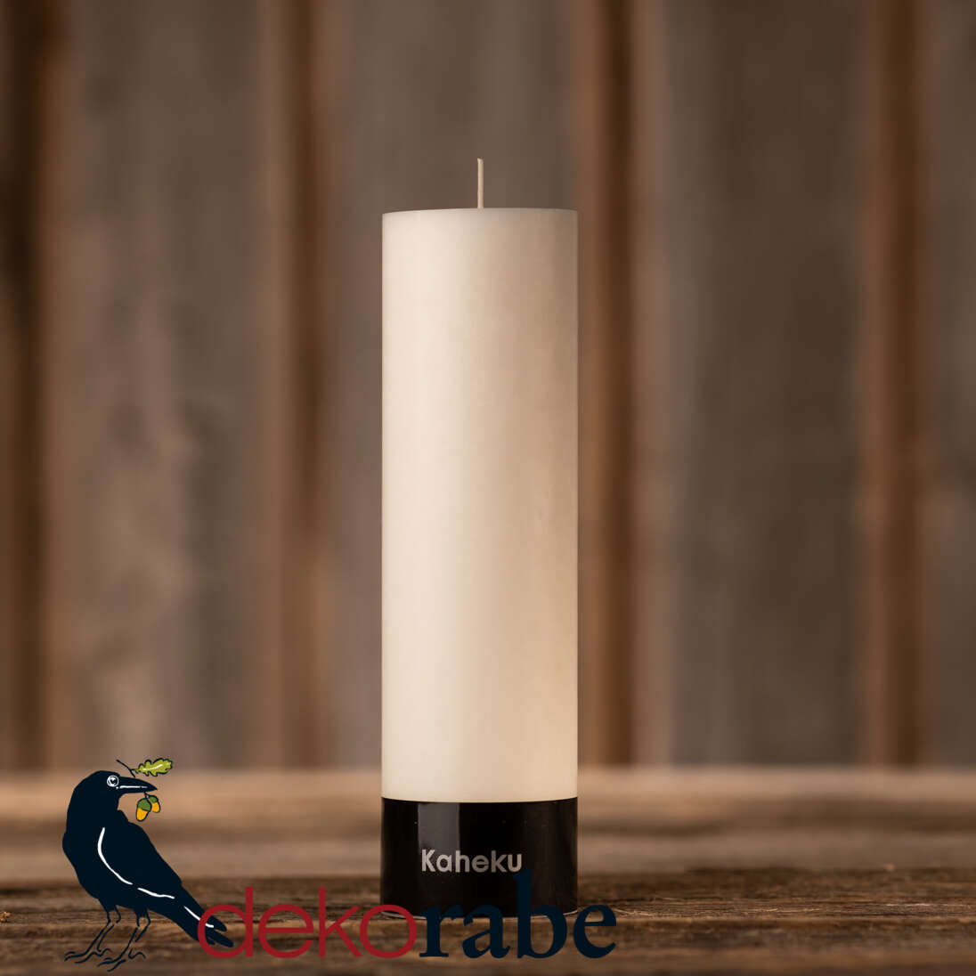 Cylinderkerze Silea Stearin weiß 7,0 cm Ø, ca. 25 cm hoch