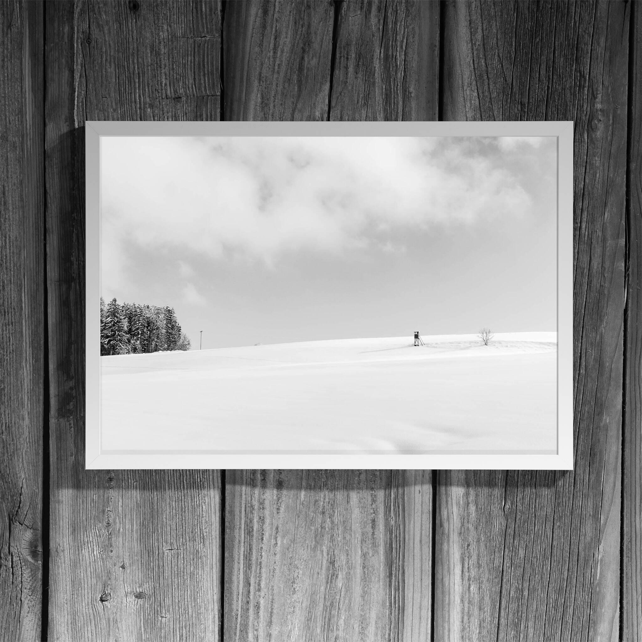 Winterlandschaft Panorama Rahmen 'Riga' A3 ohne Passepartout