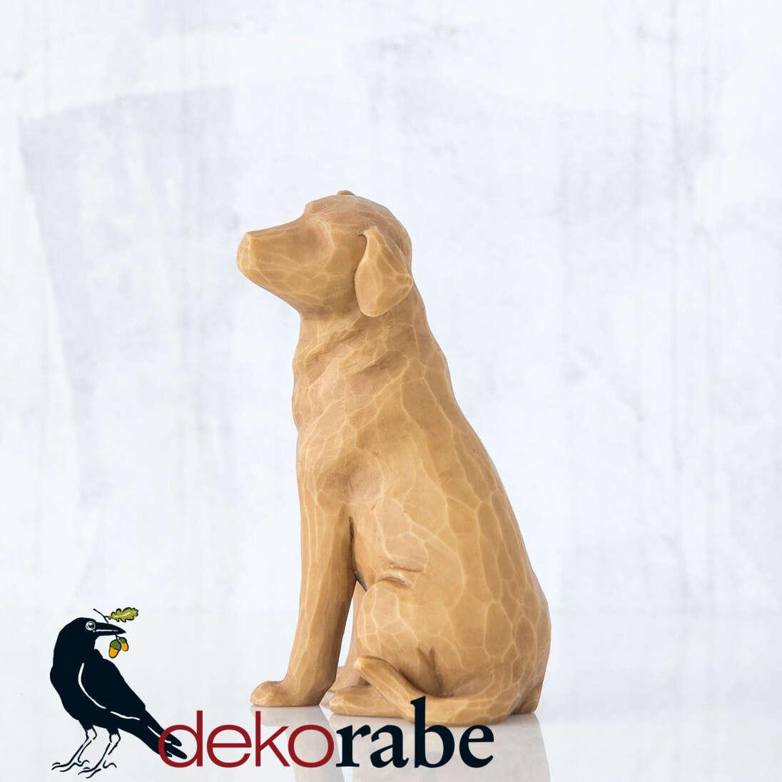 Mein lieber Hund Sitzender Hund mit hellem Fell.