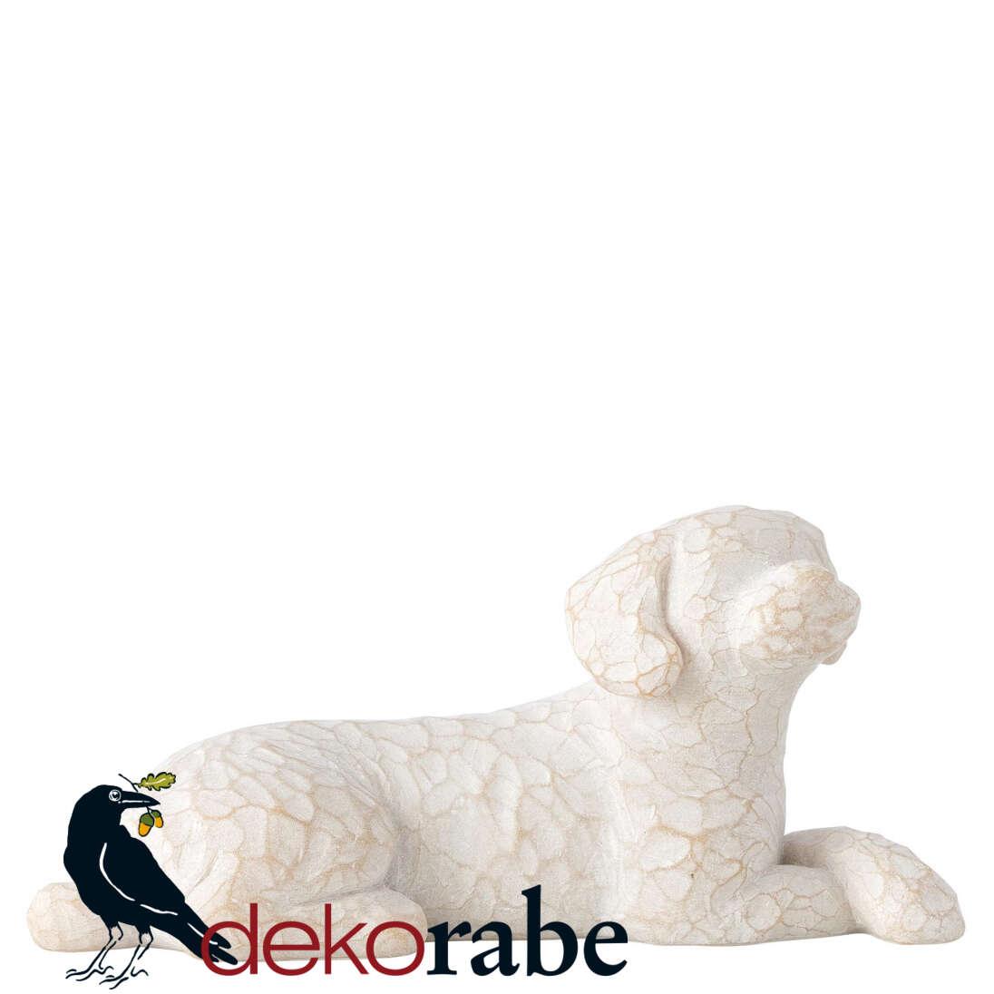 Mein lieber Hund Liegender Hund mit hellem Fell.
