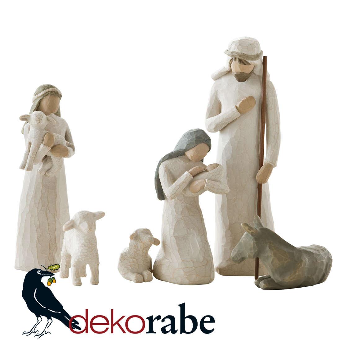Die heilige Famile mit Schäferin Krippefigur
