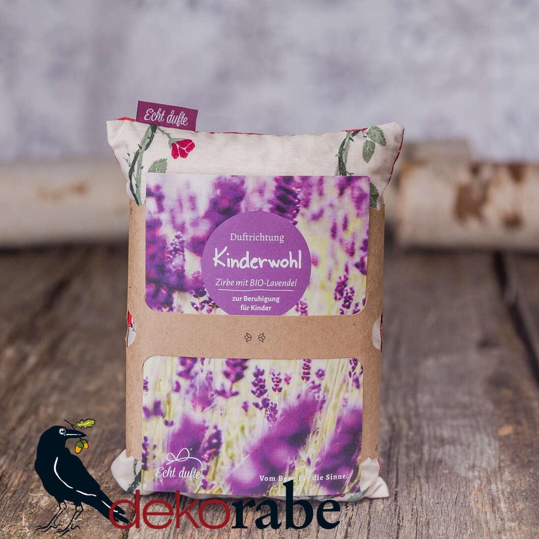 Kissen mit Zirbe und Lavendel Kinderwohl 20 x 15 cm