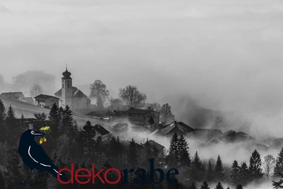 Geschenkoption Motiv: Kirche im Nebel