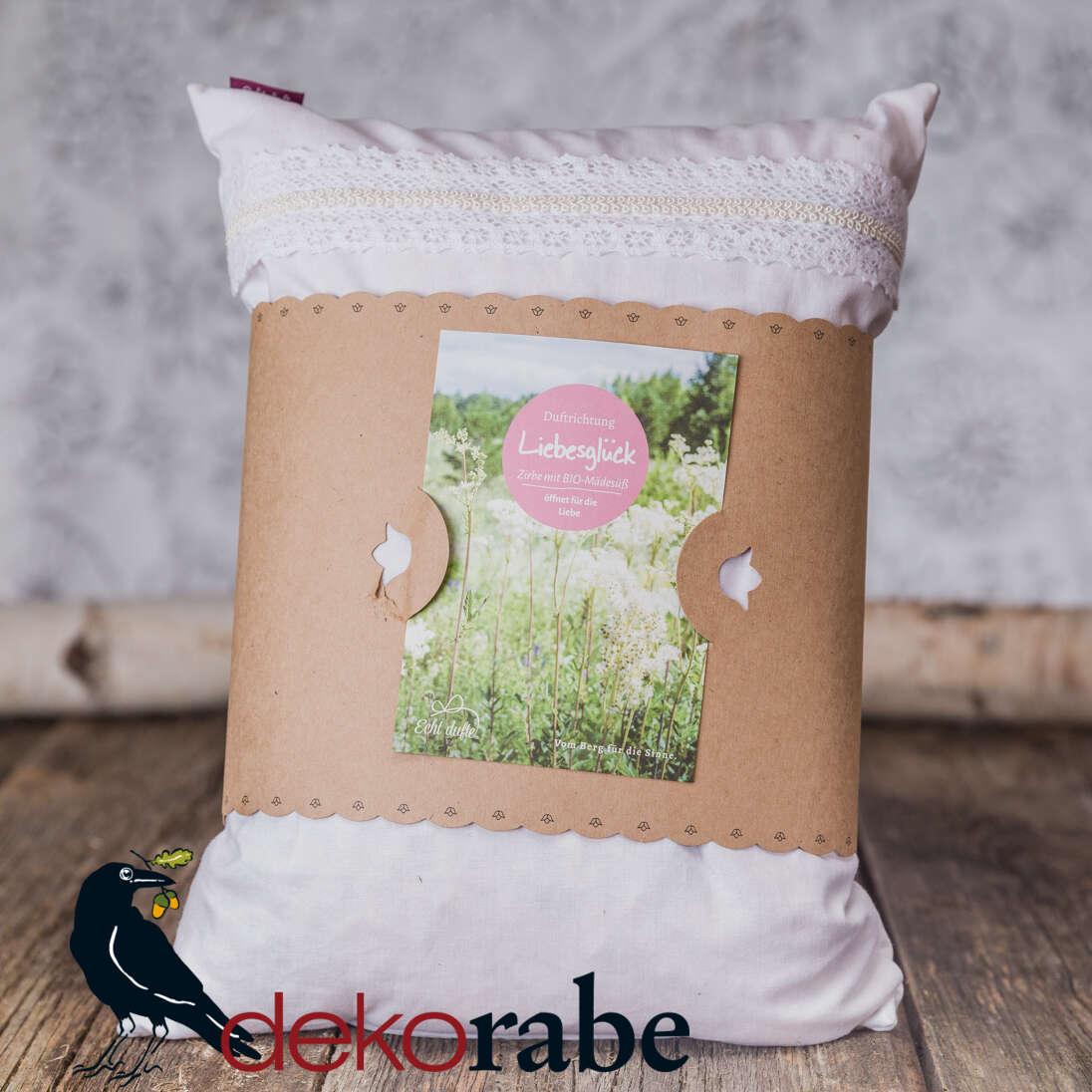 Kissen mit Zirbe und Mädesüß Liebesglück 30 x 40 cm