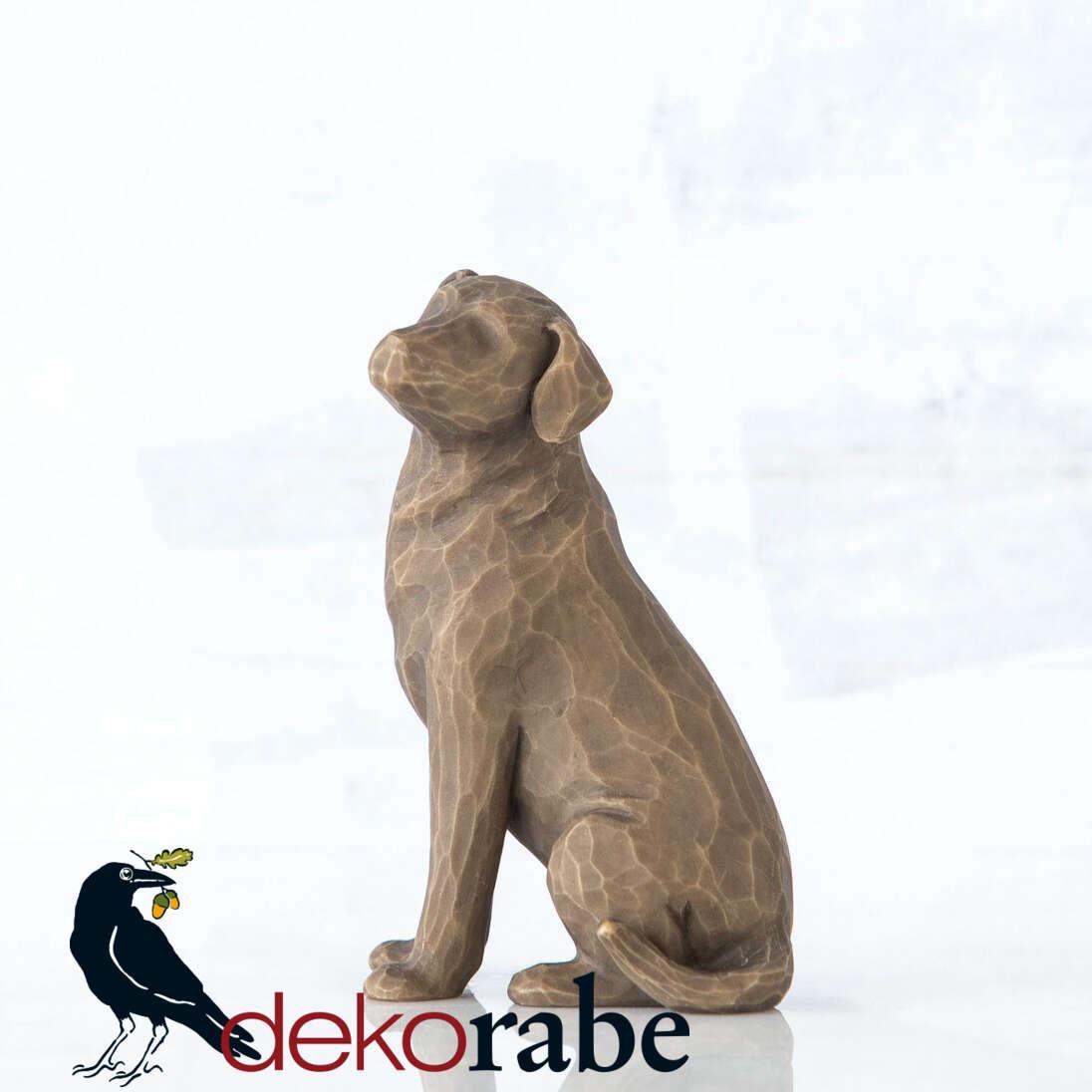 Mein lieber Hund Sitzender Hund mit dunklem Fell