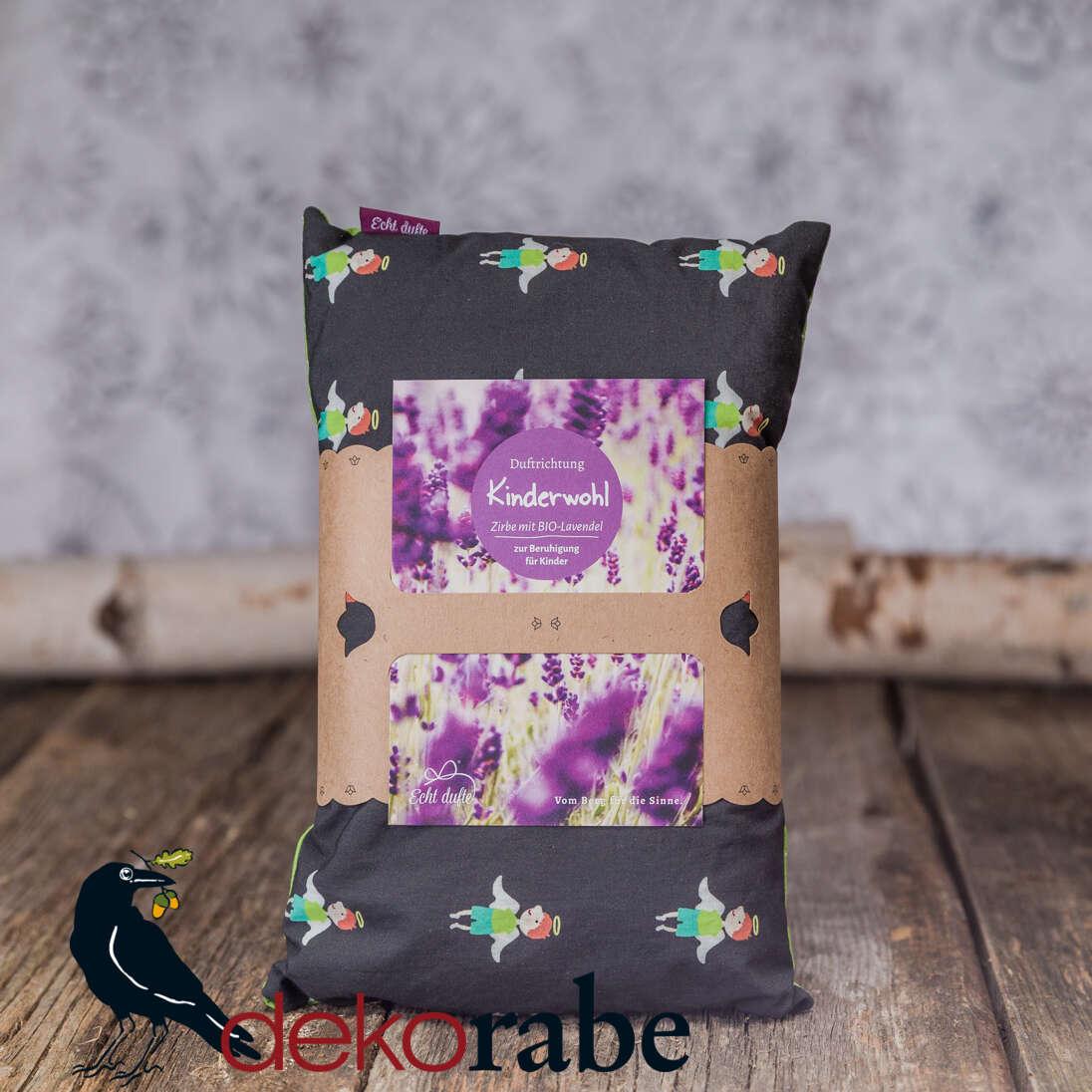 Kissen mit Zirbe und Lavendel Schutzengel 30 x 20 cm