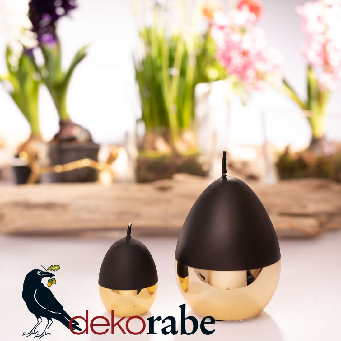 Set Eierkerze Zanetti eine kleine und eine große Eierkerze