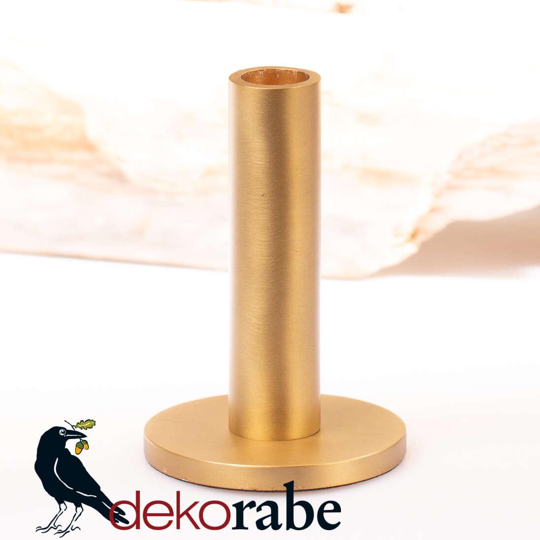 Kerzenhalter Messingoptik 12,5 cm hoch