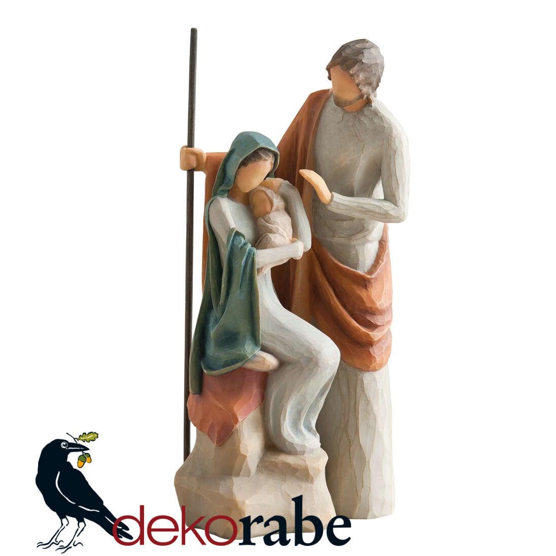 Die heilige Familie Wunderschöne Krippefiguren.