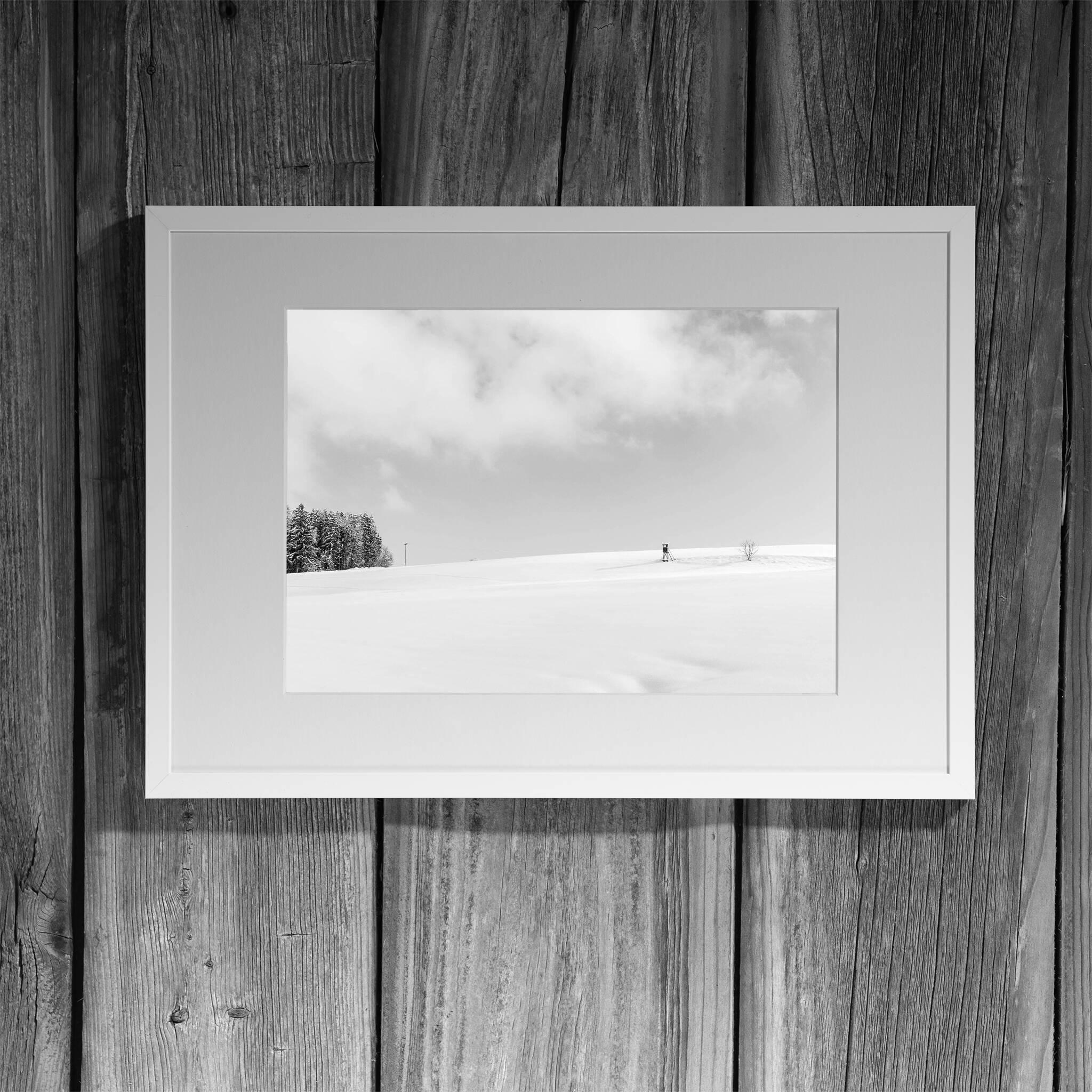 Winterlandschaft Panorama Rahmen 'Riga' A3 mit Passepartout