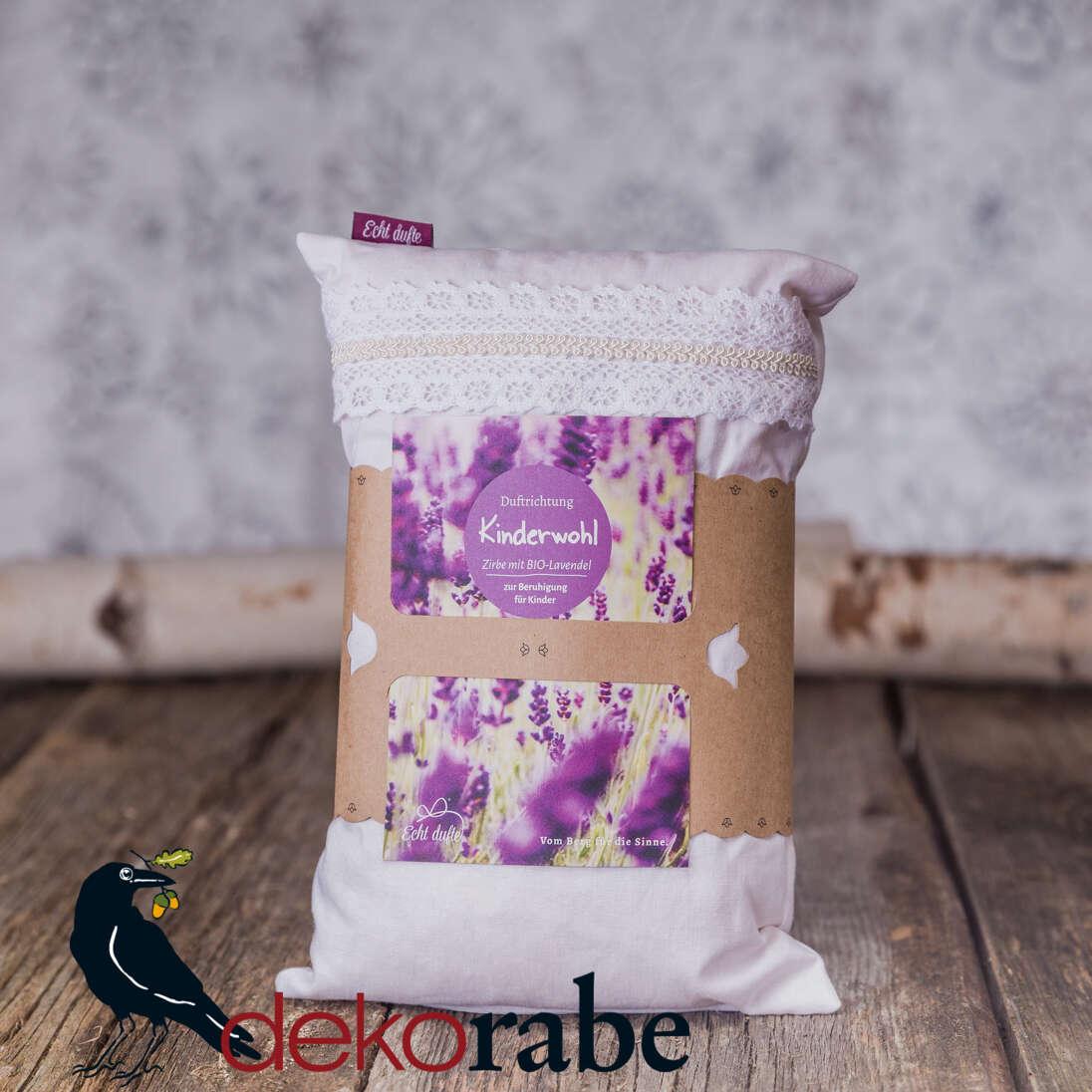 Kissen mit Zirbe und Lavendel Kinderwohl 30 x 20 cm