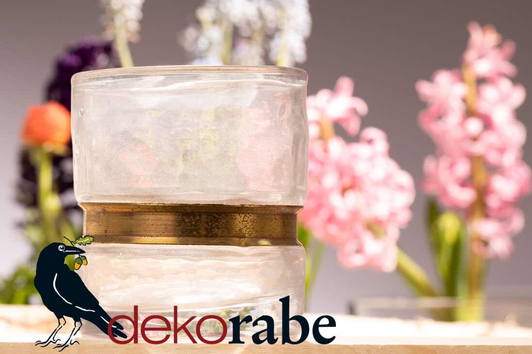 Teelichthalter Inger klar, Ø 9 cm 11 cm hoch